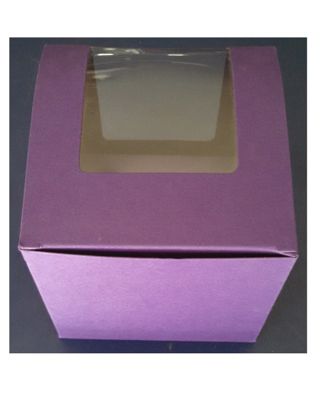 Single Serving purple Cupcake Box