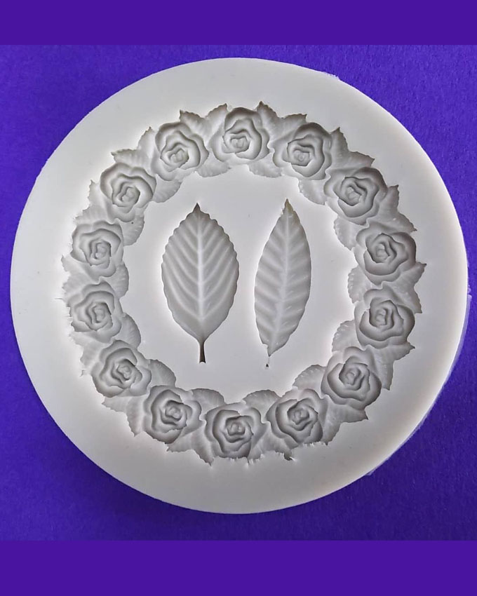 Silicon Rose Necklace Leaf Fondant Mold Size 8.5 cm
