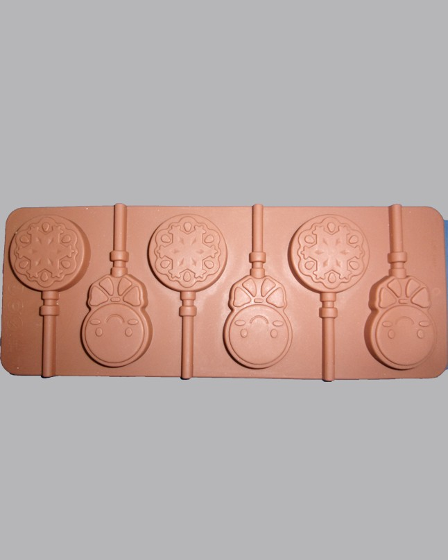 Silicon Chocolate Snowflake Lolly Pop Mold