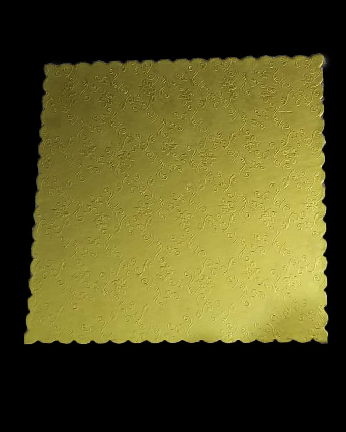 Golden Square Textured Cake Board Set 3 pieces