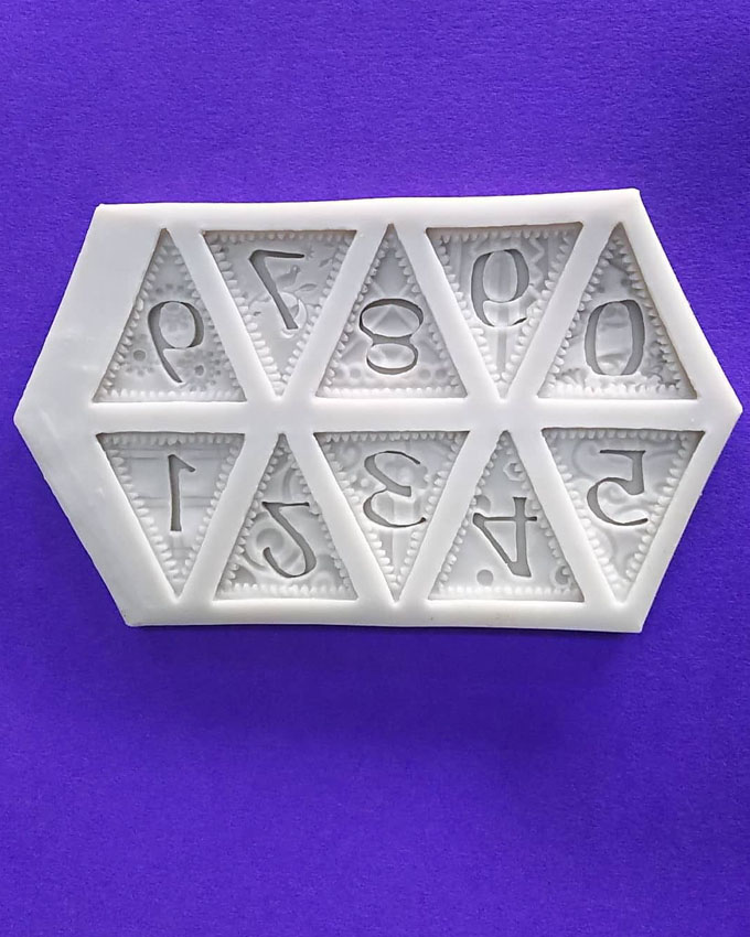Silicon Number Party Banner Fondant Mold Size 14x8 cm