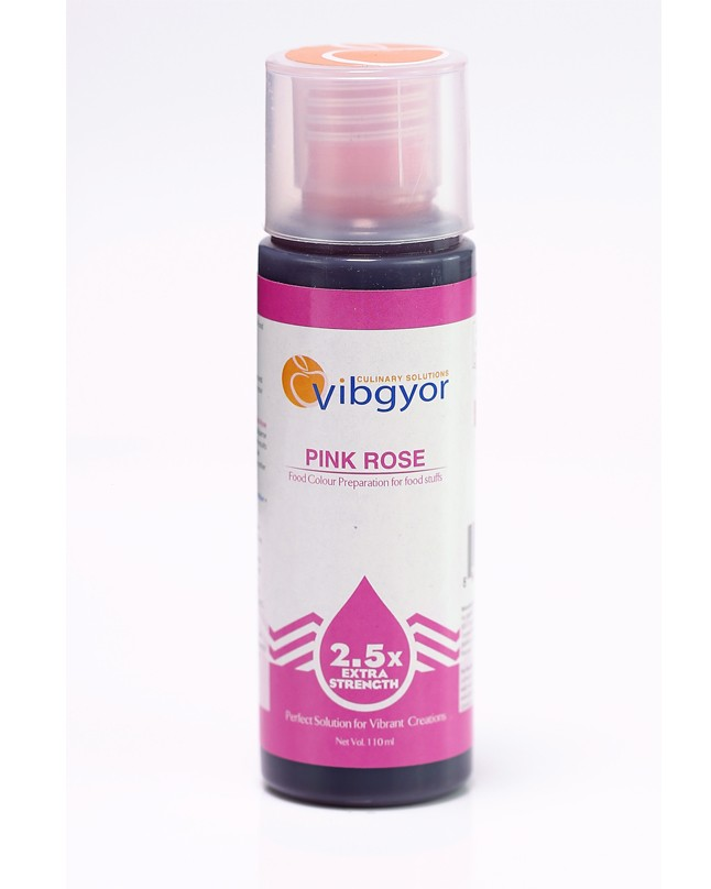 Vibgyor Pink Rose Food Color Preparation 110ml